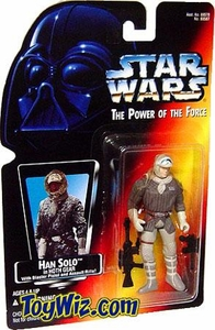 Star Wars POTF2 Power of the Force Red Card Han Solo in Hoth Gear