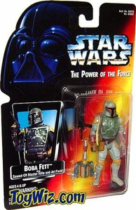Star Wars POTF2 Power of the Force Red Card Boba Fett w/ Sawed-Off Blaster Rifle and Jet Pack