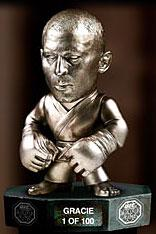 Round 5 UFC Titans Limited Edition All Silver Vinyl Hall of Fame Action Figure Royce Gracie Only 100 Made!