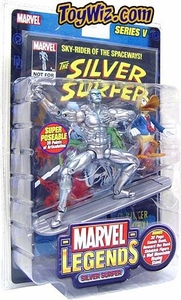 Marvel Legends Series 5 Action Figure Silver Surfer with Howard the Duck