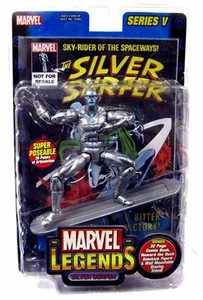 Marvel Legends Series 5 Action Figure Silver Surfer without Howard the Duck