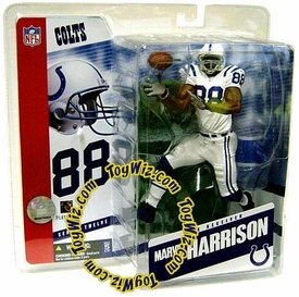 McFarlane Toys NFL Sports Picks Series 12 Action Figure Marvin Harrison (Indianapolis Colts) White Jersey