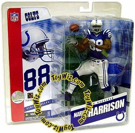 McFarlane Toys NFL Sports Picks Series 12 Action Figure Marvin Harrison (Indianapolis Colts) Blue Jersey Variant