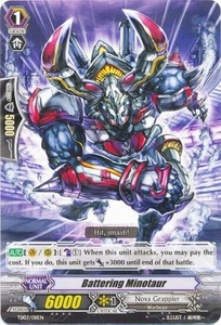 Cardfight Vanguard ENGLISH Golden Mechanical Soldier Trial Deck Single Card Fixed TD03-011 Battlering Minotaur
