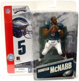 McFarlane Toys NFL Sports Picks Series 12 Action Figure Donovan McNabb (Philadelphia Eagles) Green Jersey No Helmet Variant Slighty Creased Package, Mint Contents!