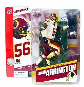McFarlane Toys NFL Sports Picks Series 12 Action Figure Lavar Arrington (Washington Redskins) White Jersey Variant