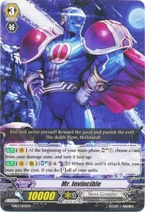 Cardfight Vanguard ENGLISH Golden Mechanical Soldier Trial Deck Single Card Fixed TD03-003EN Mr. Invincible