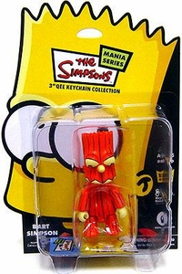 The Simpsons Mania Series Bart Simpson 3 Inch Qee Keychain [Pumpkin]