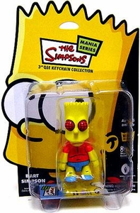 The Simpsons Mania Series Bart Simpson 3 Inch Qee Keychain [Fly]