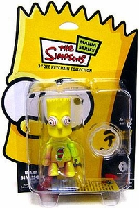 The Simpsons Mania Series Bart Simpson 3 Inch Qee Keychain [Brainfreeze]