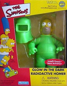 The Simpsons ToyFare Exclusive Action Figure Glow in the Dark Radioactive Homer