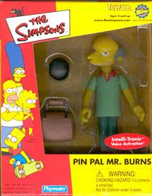 The Simpsons ToyFare Playmates Exclusive Action Figure Pin Pal Mr. Burns