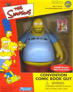 The Simpsons ToyFare Exclusive Playmates Convention Comic Book Shop Guy