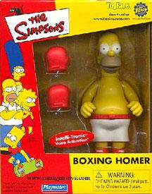 The Simpsons ToyFare Exclusive Playmates Boxing Homer