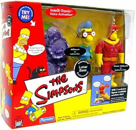 The Simpsons Exclusive Action Figure Playset Lunar Base with Radioactive Man & Fallout Boy