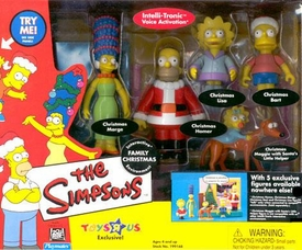 The Simpsons Toys R Us Exclusive Action Figure Playset Family Christmas