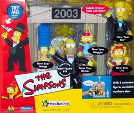 The Simpsons Exclusive Action Figure Playset 2003 New Year's Eve