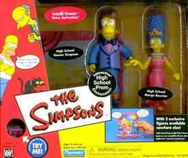 The Simpsons Exclusive Action Figure Playset High School Prom with Homer and Marge
