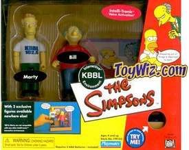 The Simpsons Exclusive Action Figure Playset KBBL Radio Station with Bill & Marty