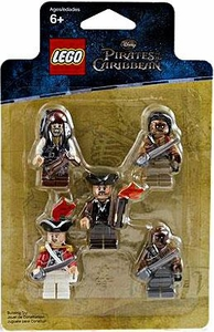 LEGO Pirates of the Caribbean Mini Figure 5-Pack #853219 Captain Jack Sparrow, Gunner Zombie, Yeoman Zombie, Scrum & King George's Officer
