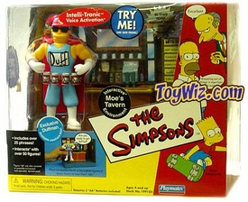 The Simpsons Exclusive Action Figure Playset Moe's Bar with Duffman