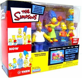 The Simpsons Exclusive Action Figure Playset Now & Then with Original Simpsons Family