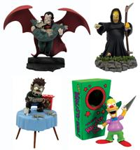 The Simpsons Series 4 Bust-Ups Treehouse of Horror Set of 4 Figures