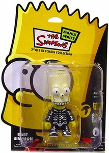 The Simpsons Mania 3 Inch Qee Figure Bart Simpson [Glow Skull]