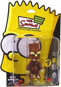 The Simpsons Mania 3 Inch Qee Figure Bart Simpson [Dark Orange Pumpkin]