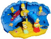 The Simpsons Hungry Jack 4 Piece Beach Puzzle Set