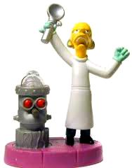 The Simpsons Burger King Spooky Light-Ups Figures