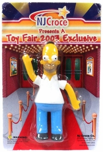 The Simpsons 2003 Toy Fair Exclusive Bendable Figure Homer