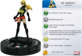 Chaos War HeroClix Marquee Figure & Card #207 Ms. Marvel