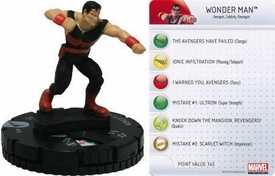 Chaos War HeroClix Marquee Figure & Card #210 Wonder Man