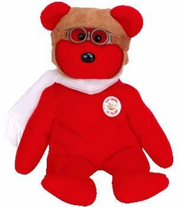 Ty Beanie Baby Exclusive Red Bearon the Bear