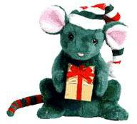 Ty Beanie Baby Internet Exclusive Tidings the Mouse