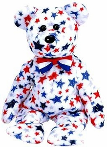 Ty Beanie Baby Red the USA Exclusive Bear