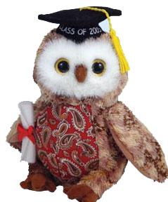 Ty Beanie Baby Smarty the Owl 2005