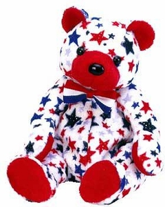 Ty Beanie Baby Exclusive Red the USA Bear