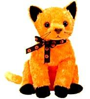 Ty Beanie Baby Internet Exclusive Scared-e the Cat