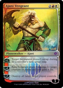 Magic the Gathering Prerelease & Release Promo Card Ajani Vengeant [Shards of Alara Release]