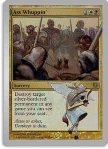 Magic the Gathering Prerelease & Release Promo Card Ass Whuppin' [Unhinged Prerelease]