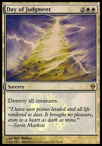 Magic the Gathering Prerelease & Release Promo Card Day of Judgment [Zendikar Box Promo]