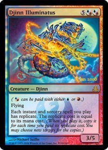 Magic the Gathering Prerelease & Release Promo Card Djinn Illuminatus [Guildpact Prerelease]
