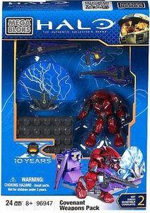 Halo Wars Mega Bloks Set #96947 Covenant Weapons Pack III [Crimson Battle Elite]