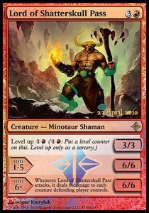 Magic the Gathering Prerelease & Release Promo Card Lord of Shatterskull Pass [Rise of the Eldrazi Release]