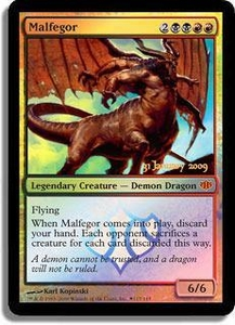 Magic the Gathering Prerelease & Release Promo Card Malfegor [Conflux Prerelease]