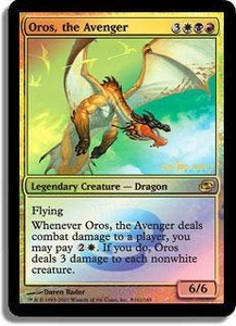 Magic the Gathering Prerelease & Release Promo Card Oros, the Avenger [Planar Chaos Prerelease]