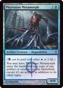 Magic the Gathering Prerelease & Release Promo Card Phyrexian Metamorph [New Phyrexia Release]