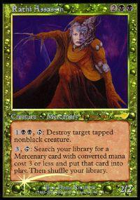 Magic the Gathering Prerelease & Release Promo Card Rathi Assassin [Nemesis Prerelease]